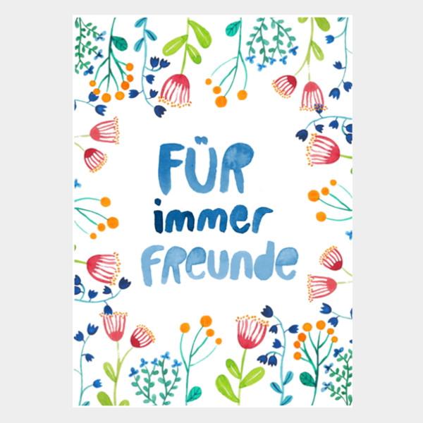 """Postkarte """"Für immer Freunde"""""""