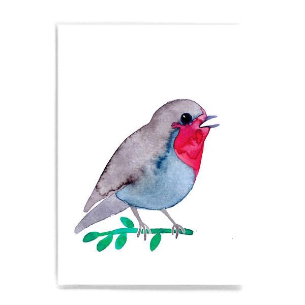 """Postkarte """"Rotkehlchen"""""""